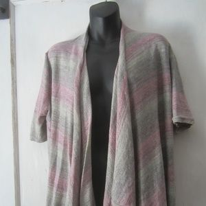 Coldwater Creek Draped Front Open Cardigan